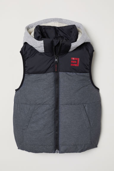Padded gilet - Dark grey - Kids | H&M CN