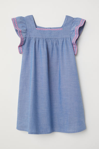 Cotton dress - Blue/Chambray -  | H&M CN