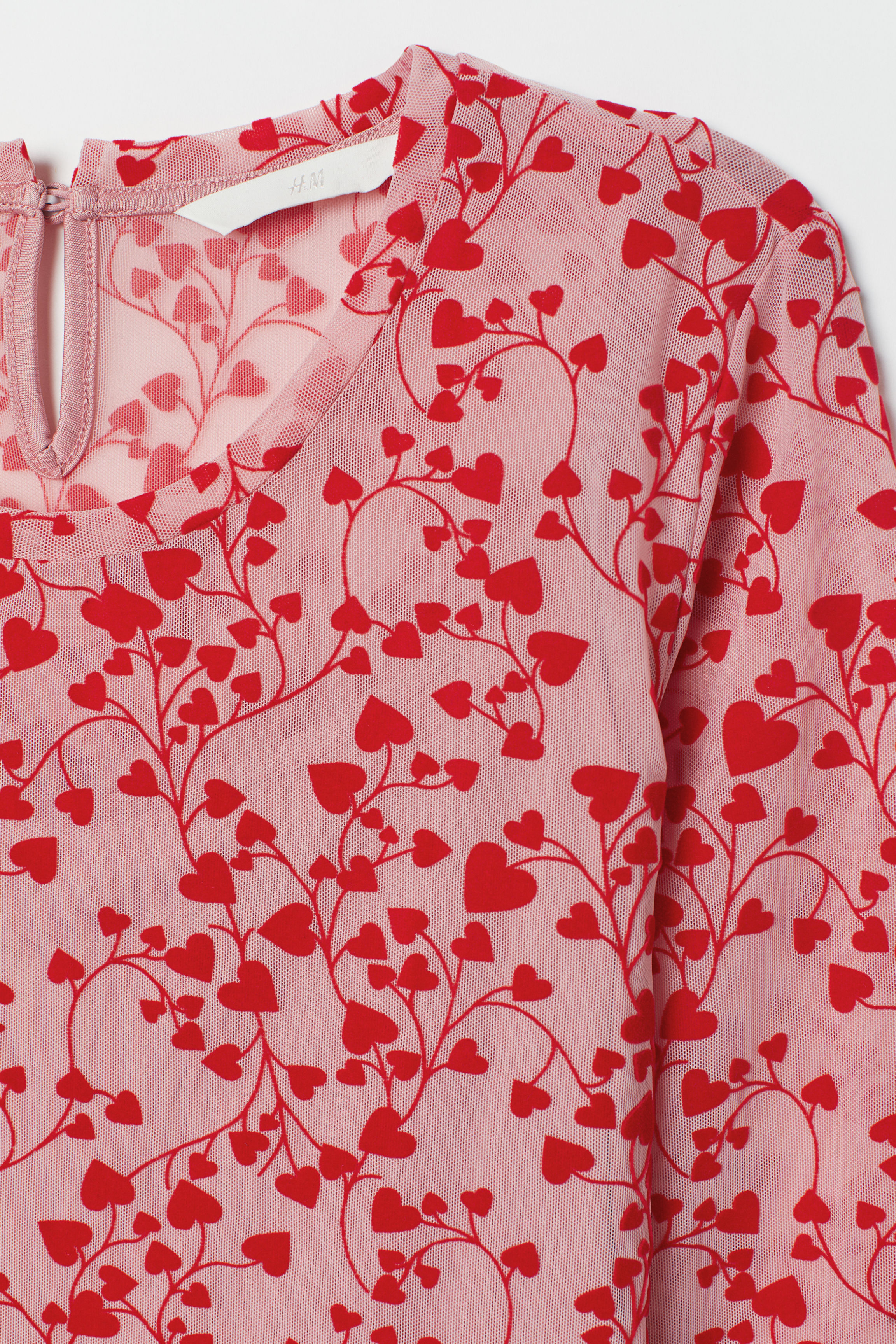 c265bc0d07875 Patterned Dress - Light pink/hearts - | H&M US