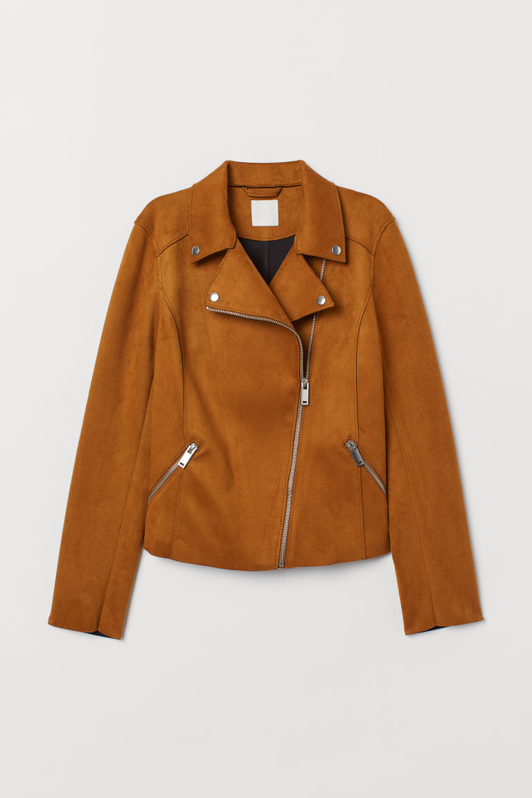 Biker Jacket - Brown - Ladies | H&M US