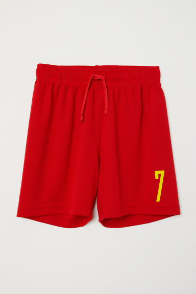 Football shorts - Red/7 -  | H&M