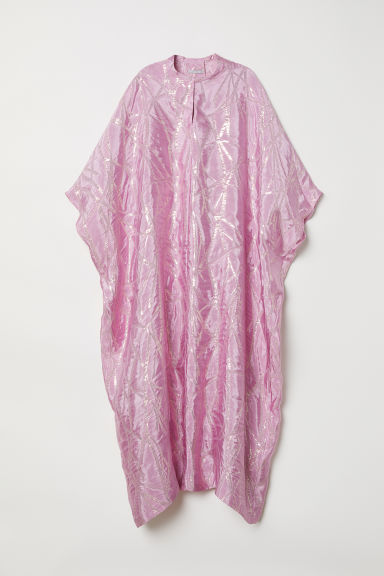Silk-blend kaftan - Light pink - Ladies | H&M CN