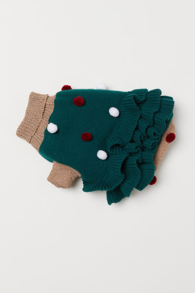 Knitted dog dress - Dark green - Ladies | H&M