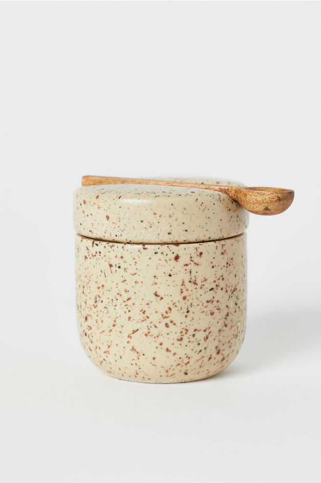 Small Jar With Lid And Spoon