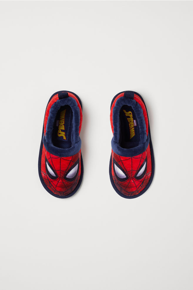 7b3897fe37d Soft Slippers - Red Spider-Man - Kids