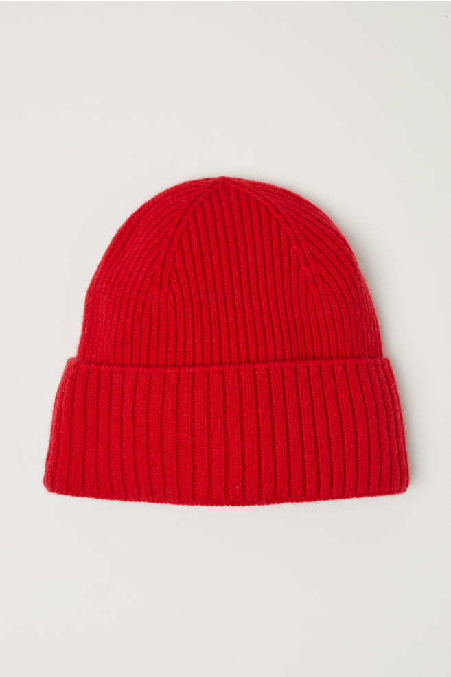 89ddc12196a Ribbed cashmere hat - Red - Men