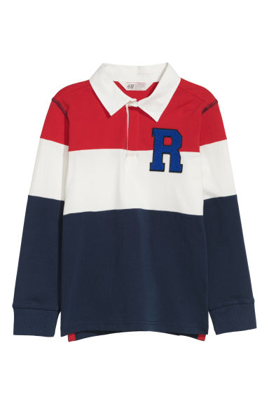 Rugby shirt - Red/Dark blue -  | H&M CN