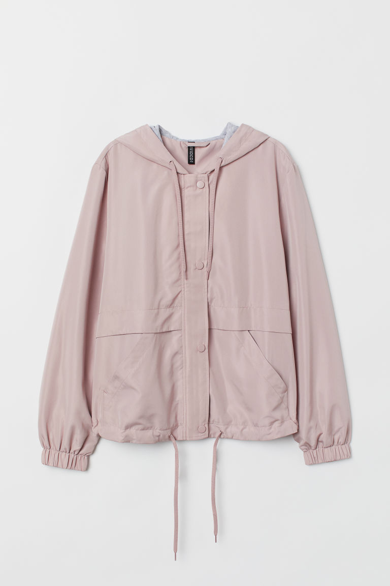 Hooded jacket - Powder pink -  | H&M IN