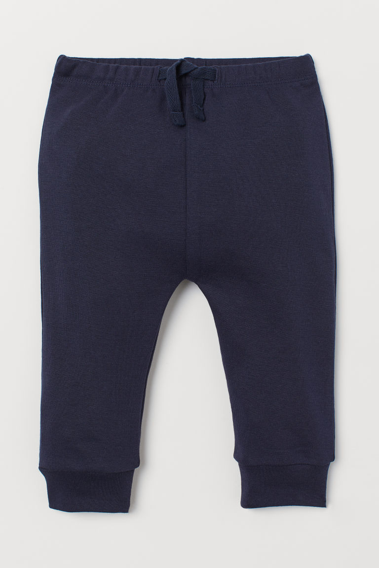 Cotton jersey trousers - Dark blue - Kids | H&M IN