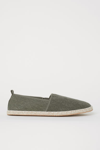 Espadrilles - Dark khaki green - Men | H&M CN