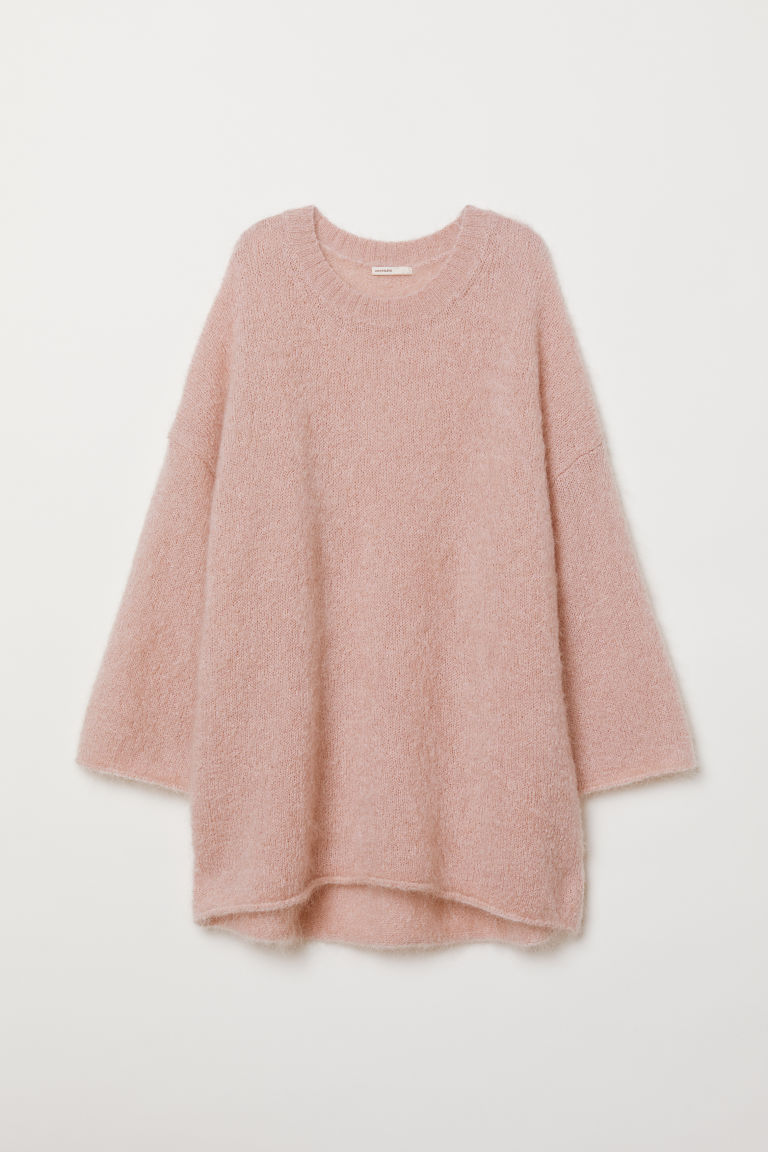Mohair-blend jumper - Powder pink - Ladies | H&M CN