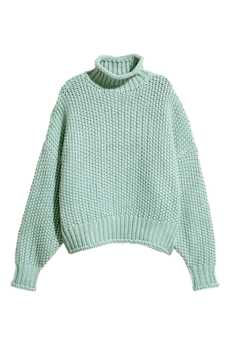 Chunky-knit Sweater - Mint - Ladies | H&M CA