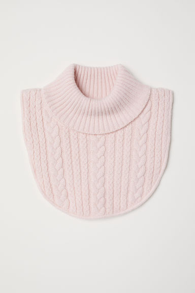 Cable-knit polo-neck collar - Powder pink - Kids | H&M