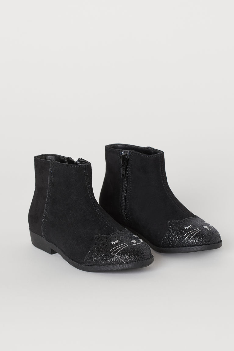 Boots - Black/cat - Kids | H&M US