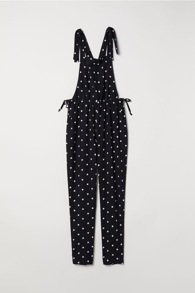 659e430c256 Viscose Bib Overalls - Black dotted - Ladies