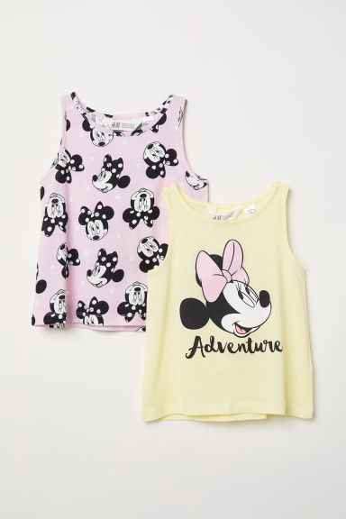 2-pack printed vest tops - Light pink/Minnie Mouse -  | H&M CN