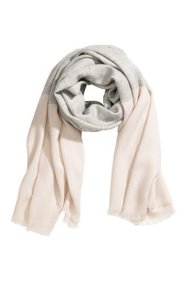Scarf - Beige/Light grey - Ladies | H&M