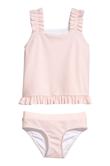 Striped tankini - Peach/Striped -  | H&M CN