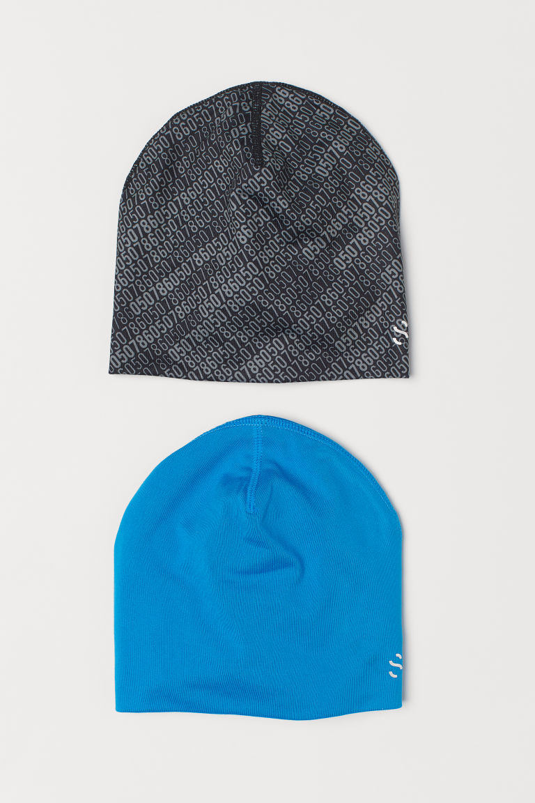 2-pack hats - Lagoon blue/Grey - Kids | H&M CN