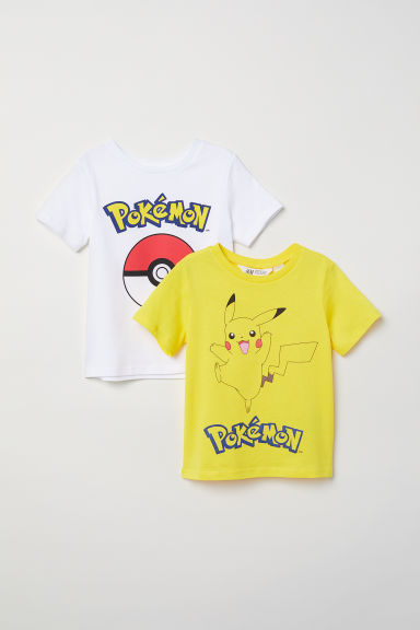 2-pack T-shirts - Yellow/Pokémon - Kids | H&M