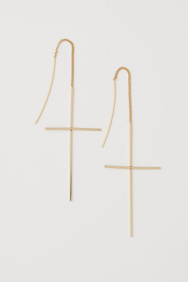 Long earrings - Gold-coloured - Ladies | H&M