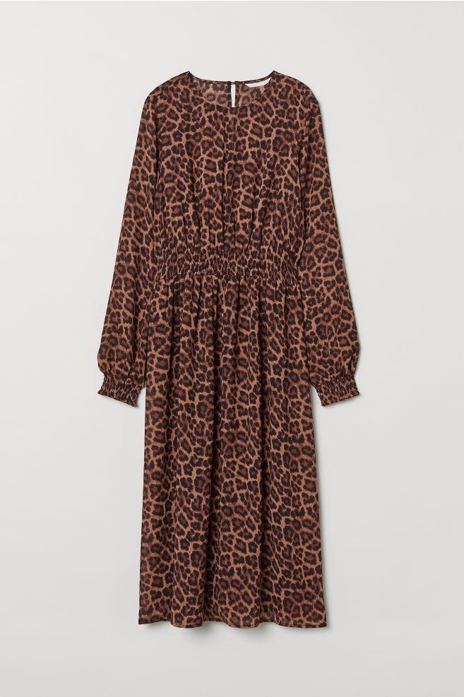 09129ec13d16 Smocked dress - Brown/Leopard print - Ladies | H&M ...