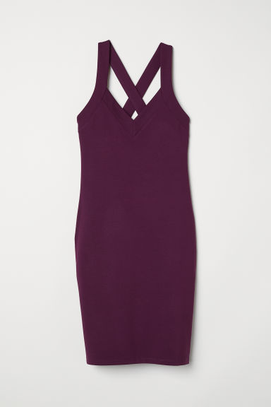 Fitted dress - Purple - Ladies | H&M