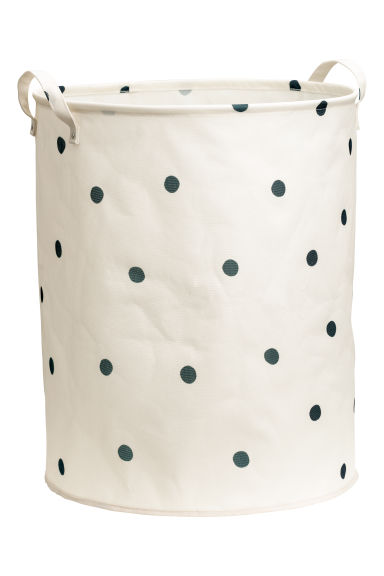 Large storage basket - Natural white/Grey spotted - Home All | H&M CN