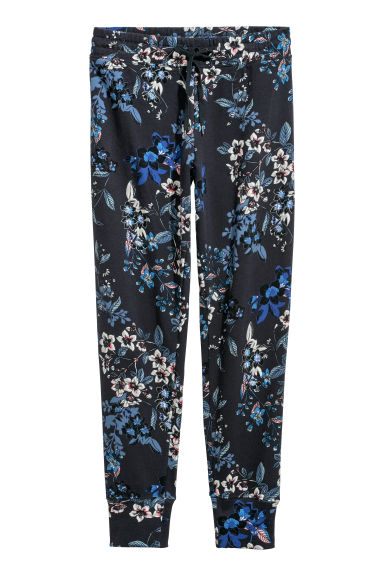 Joggers - Dark blue/Floral - Ladies | H&M GB
