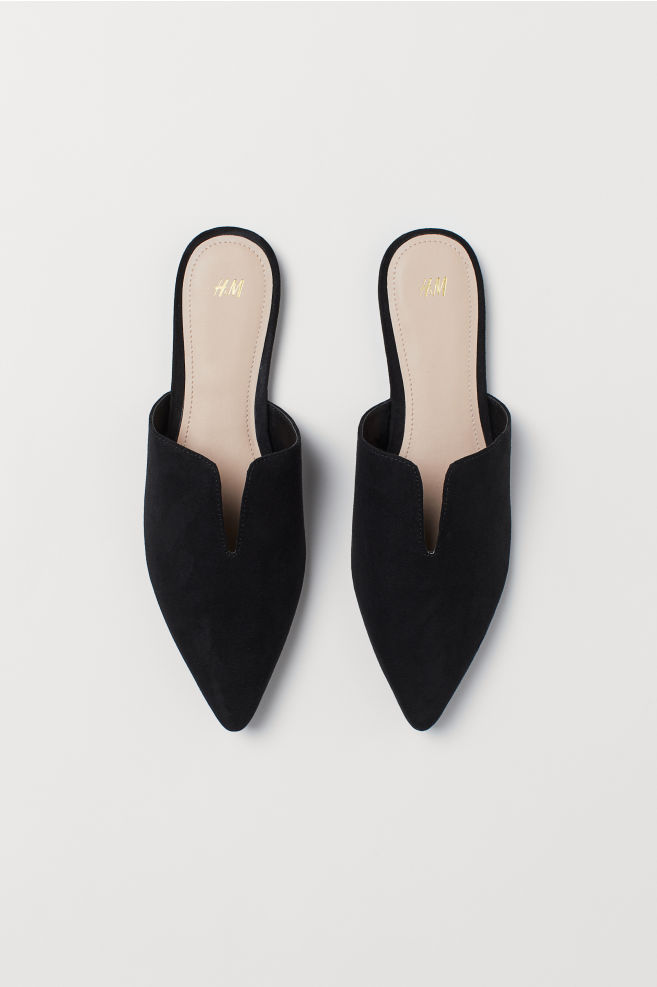 cff4b6cf3e49 Pointed mules - Black - Ladies