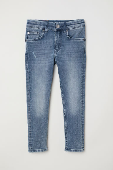 Superstretch Skinny Fit Jeans - 浅牛仔蓝/做旧 - Kids | H&M CN