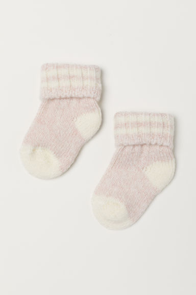 Thick wool-blend socks - Light pink - Kids | H&M CN