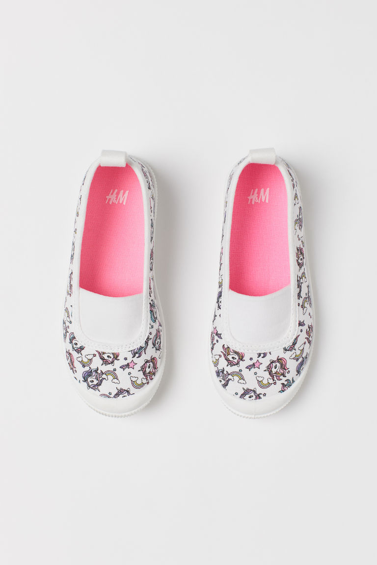 Patterned trainers - White/Unicorns - Kids | H&M CN