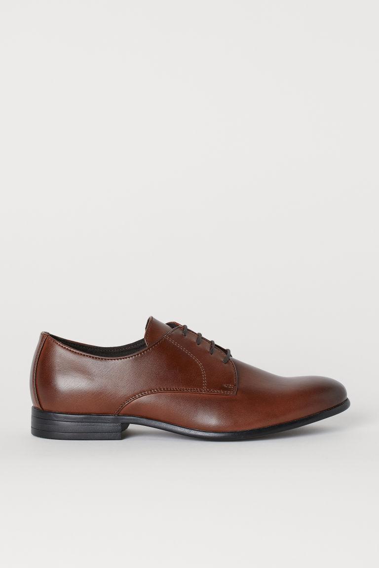 Derby shoes - Dark brown -  | H&M IE