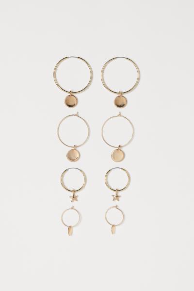H&M - 4 pairs hoop earrings - 1
