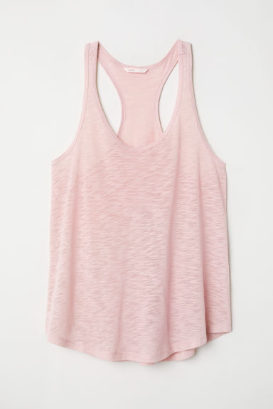 Slub jersey vest top - Powder pink - Ladies | H&M CN