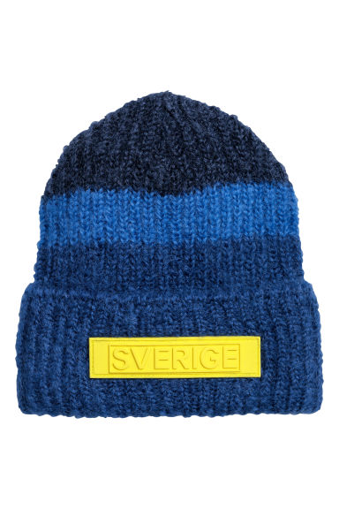 Mohair-blend hat - Dark blue - Men | H&M