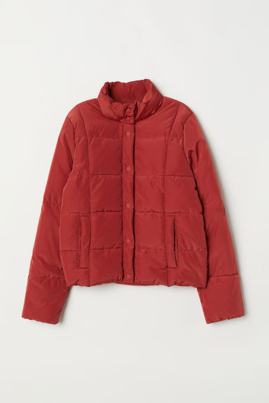 Padded jacket - Rust red - Ladies | H&M