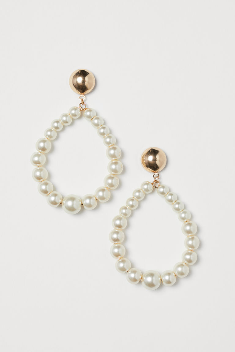 Earrings with beads - Gold-coloured - Ladies | H&M