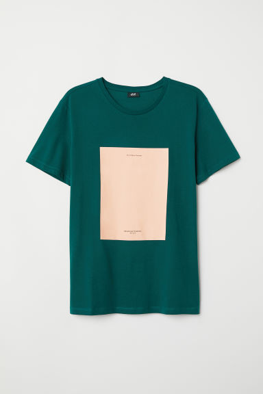 T-shirt with a motif - Dark green/The Endless Summer - Men | H&M CN