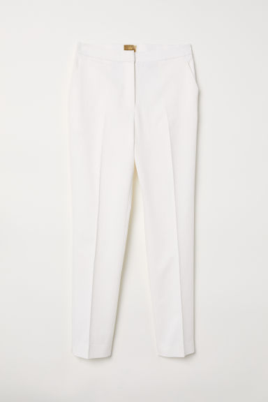 Cigarette trousers - White - Ladies | H&M