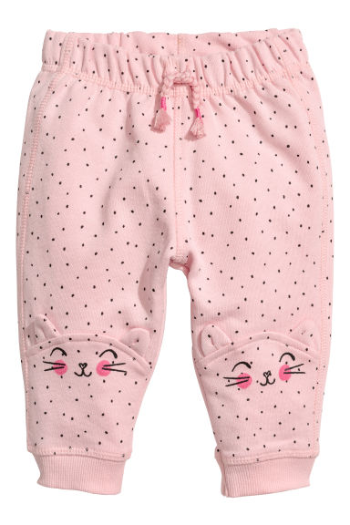 Patterned joggers - Light pink/Spotted -  | H&M CN