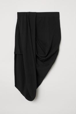 ac2f46787e9 Трикотажная юбка с драпировкой