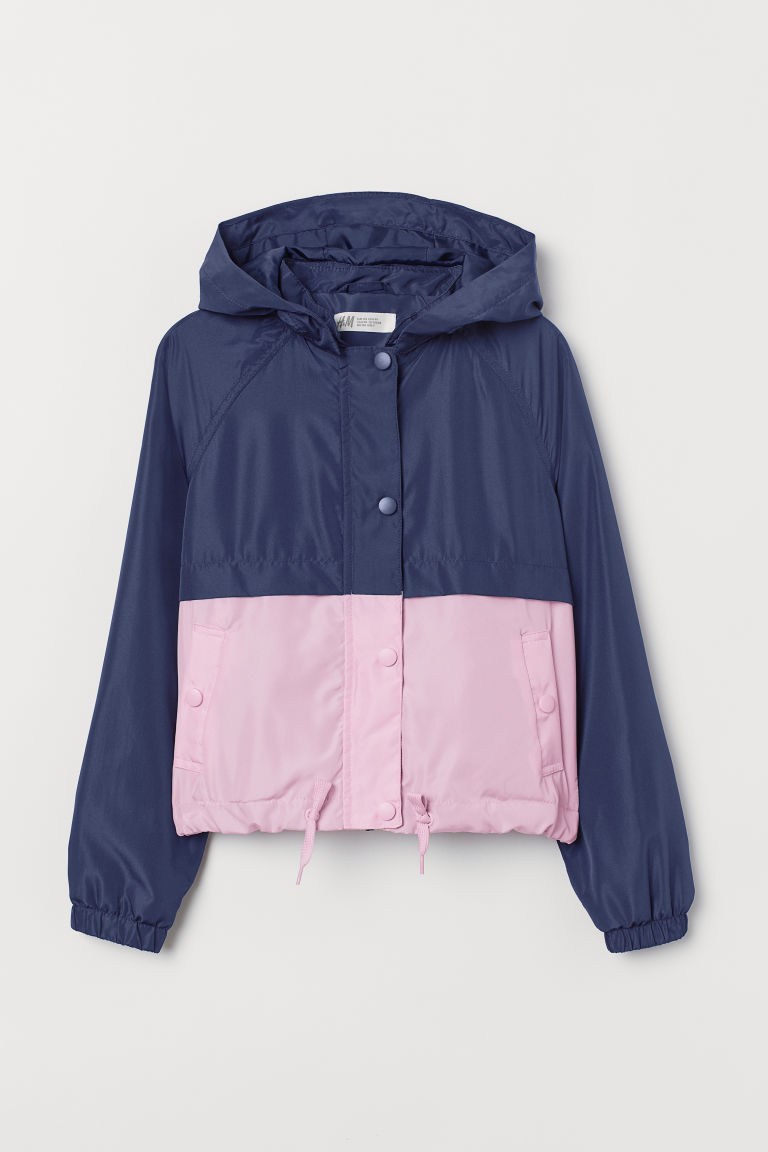 Rompevientos - Azul oscuro/Rosa - Kids | H&M MX
