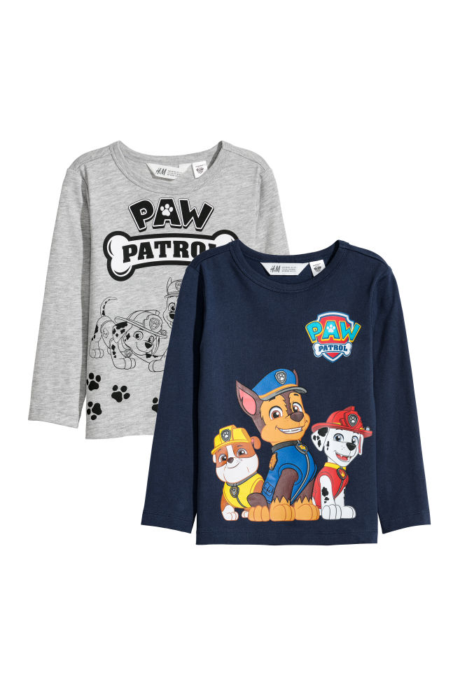 2adb87c1d723 Balenie 2 džersejových tričiek - tmavomodrá Paw Patrol - DETI