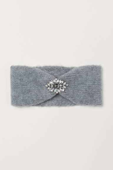 Sparkly stone headband - Light grey marl - Ladies | H&M CN