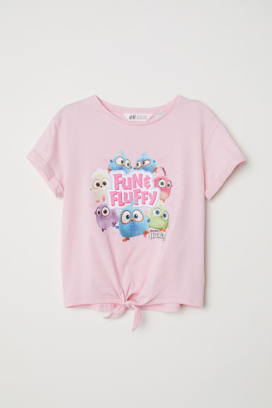 Top da annodare in jersey - Rosa/Hatchlings - BAMBINO | H&M IT
