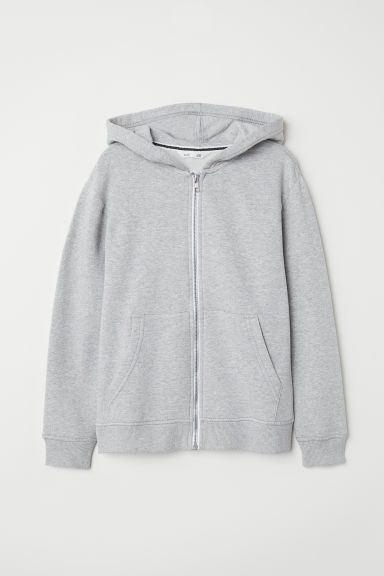 Hooded jacket - Light grey marl - Kids | H&M IE