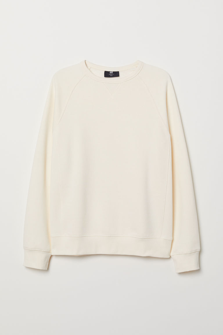 Sweatshirt Loose Fit - Natural white - Men | H&M