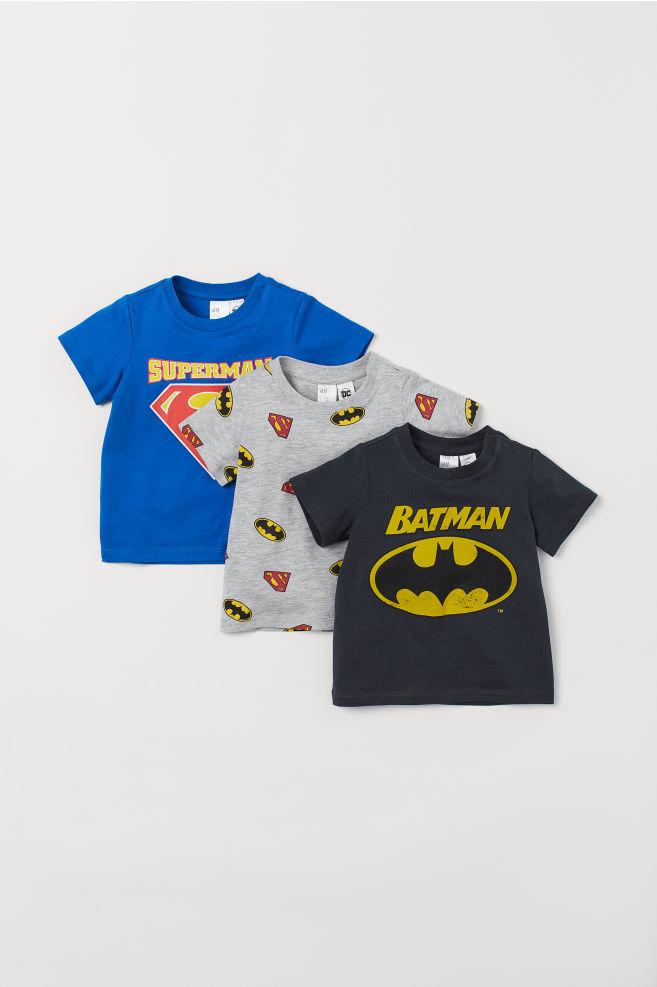 f25366989d 3 db-os póló szett - Kék Superman/Fekete Batman - GYEREK | H&M HU